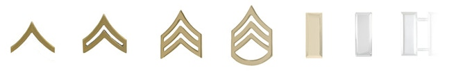 Level progression is based on military ranks