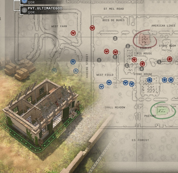 Mission objectives are shown on the strategic map