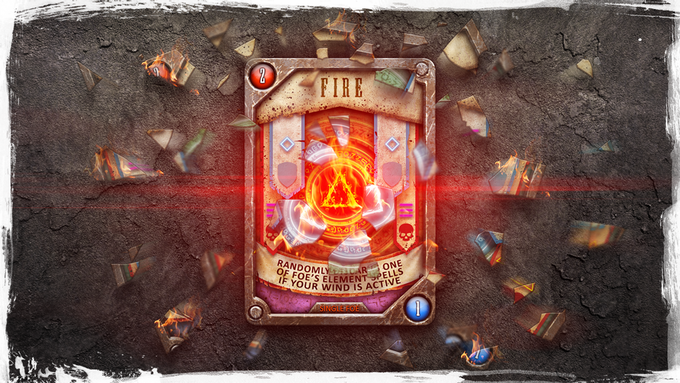 There are six element spells: Fire, Earth, Water, Ice, Wind, Lightning.