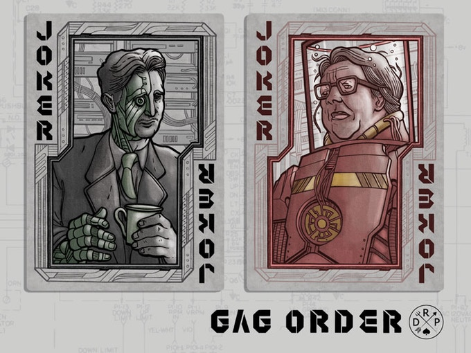 """The Jokers are novelists George Orwell and Ray Bradbury, of """"1984"""" and """"Fahrenheit 451"""" fame respectively."""
