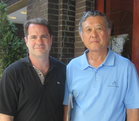 Author Rob Fitts with Masanori Murakami