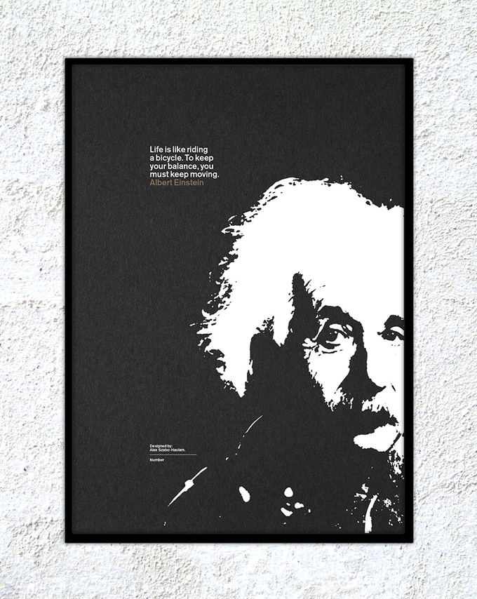 "16 – Albert Einstein: ""Life is like riding a bicycle. To keep your balance, you must keep moving."""