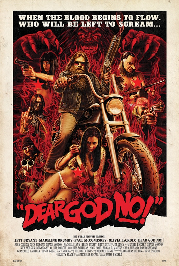 DEAR GOD NO! 1 sheet by The Dude Designs