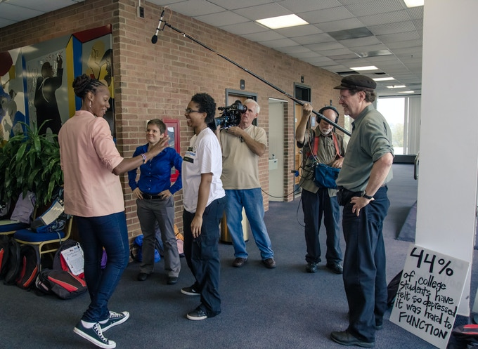 Chamique visits Howard University as a spokesperson for Active Minds