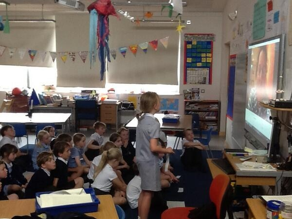'Ask an Ocean Rower a Question'. Connecting with UK primary schools