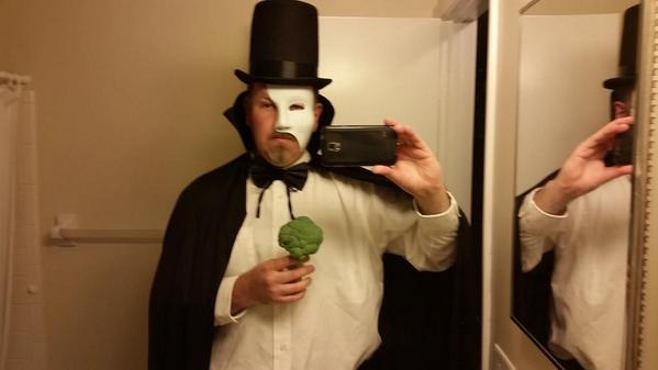 The Phantom of the Opera with Broccoli