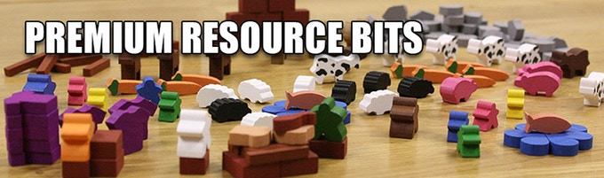 We have a mind-boggling variety of Premium Resource Bits currently available on MeepleSource.com