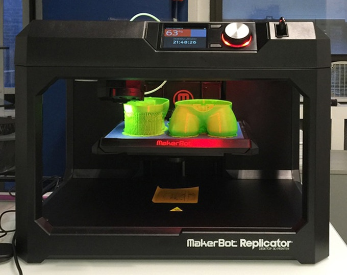 Our 3D printer allowed us to iterate multiple product designs rapidly.