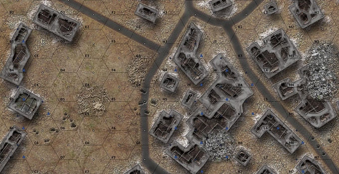 A portion of the Stalingrad game map.