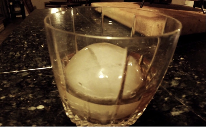 Whiskey With single Hailstone