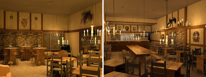 Architectural renderings of interior