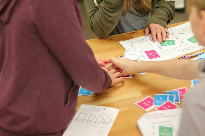 """Our purpose-learning cards guide students through questions like """"What do your friends come to you for help with?"""" to help them explore their skills, interests, and causes they care about."""