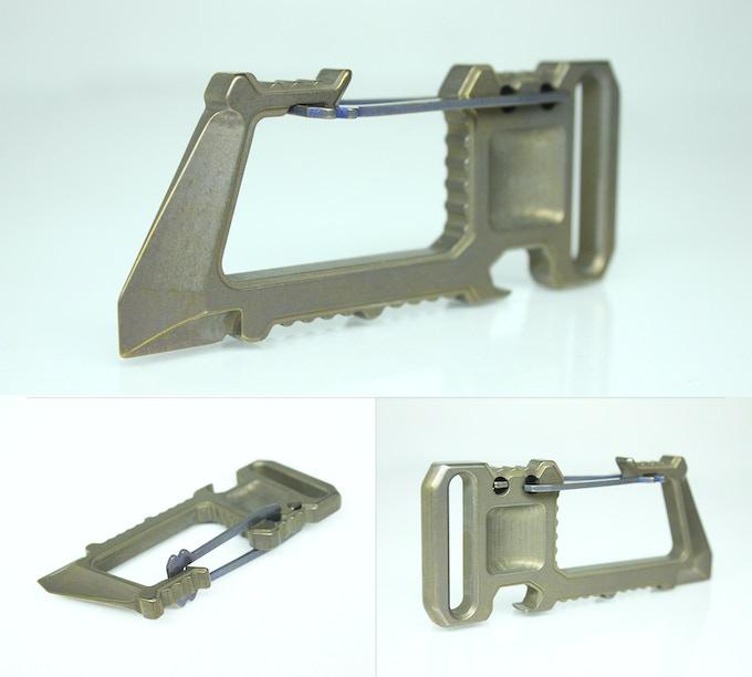 Ti2 Whar-Biner -- Titanium Bronze/Gold Anodized