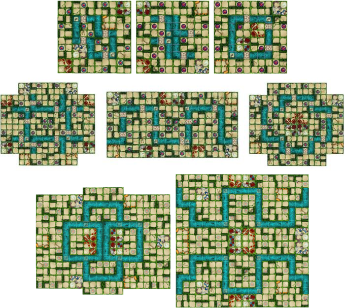 2, 4, 6, and 8-player maps