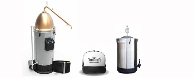 Grainfather and Alembic Setup with Stainless Steel Fermenter