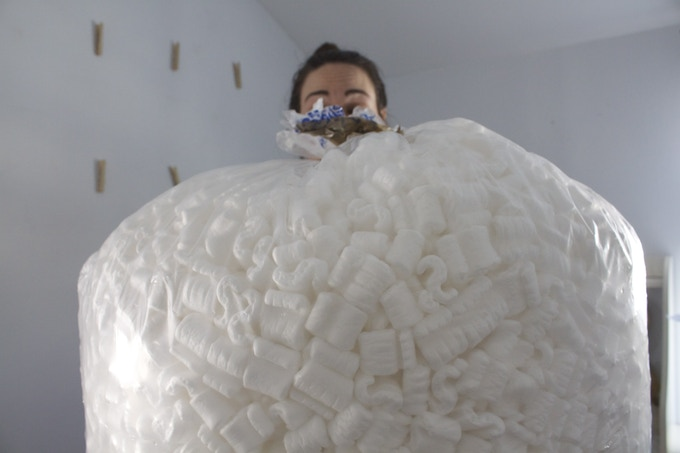 the packing peanuts get bigger each time