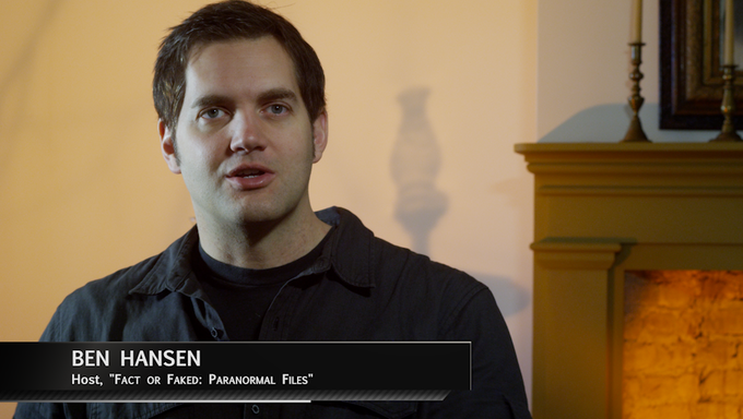 """Ben Hansen - Host of SyFy's """"Fact or Faked: Paranormal Files"""""""