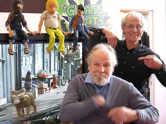 Gilbert Shelton and Dave Borthwick at the Berlin Film Festival