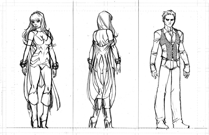 WIDOW'S WEB CHARACTER DESIGNS: Dahlia and Pterra by Ale Garza (1 of 6)