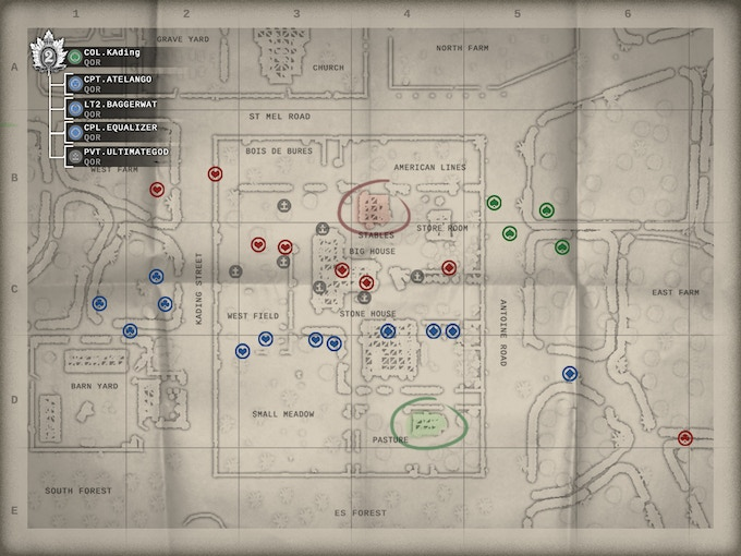 The strategic map is an interface that gives a clear overview of the battlefield situation