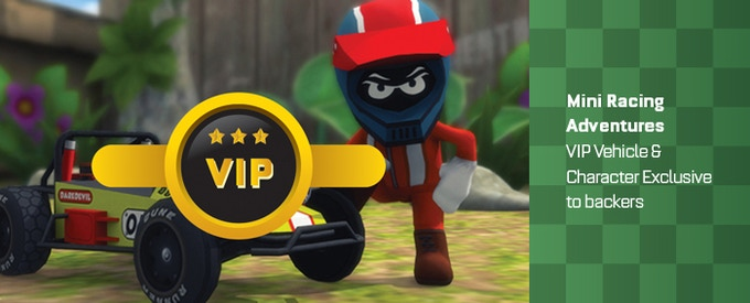 Your a V.I.P and deserve an EXCLUSIVE character and vehicle due to your BACKER status. We will take suggestions and do a vote to see what our backer's want.