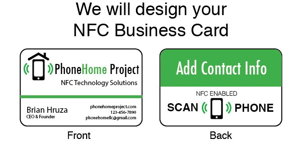 Paper business cards always end up in the trash. Automatically provide your contact info, without making client's type all your info into their smartphone with a NFC Business Card.