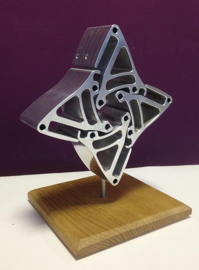 Unique sculptural art: Loopwheels Star £220+ pledge
