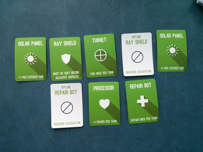 An example base with the final cards.