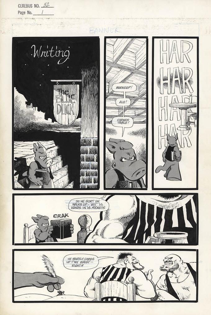 Plate #1 - CEREBUS No. 52 page 1