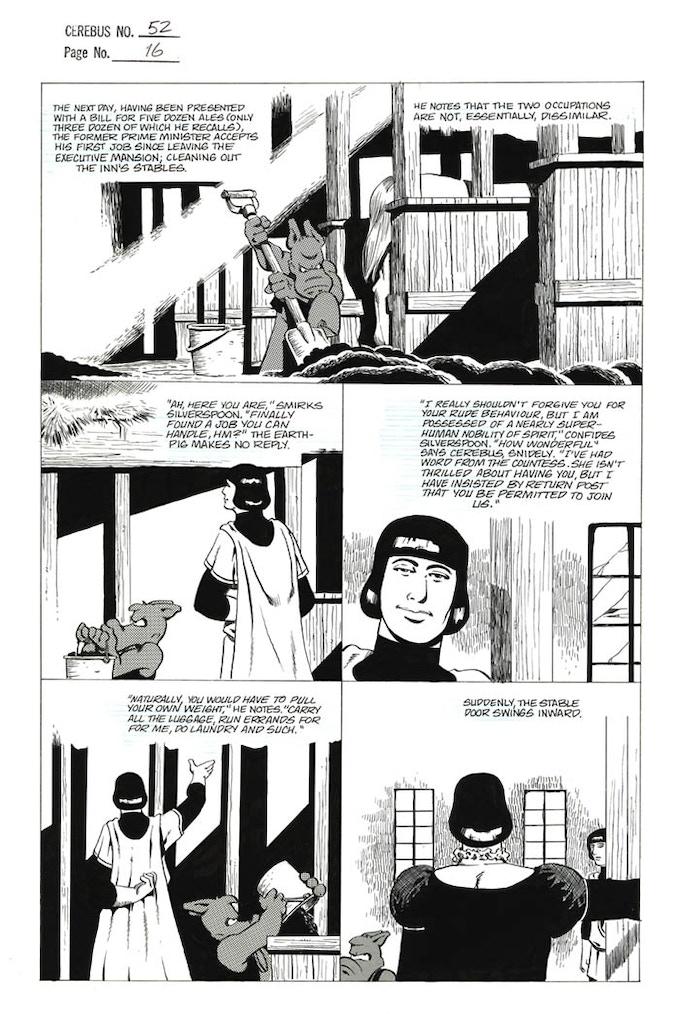 Plate #8 - CEREBUS No. 52 page 16