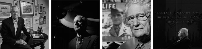MOH Recipients & Aces from left to right: Robert E. Galer, Jefferson J. DeBlanc, Joseph J. Foss, James E. Swett- Photos by Nick Del Calzo