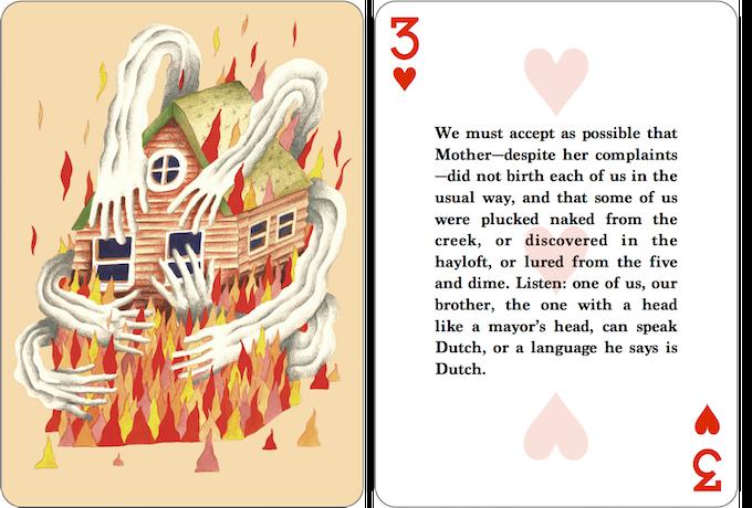 Card Back / Three of Hearts