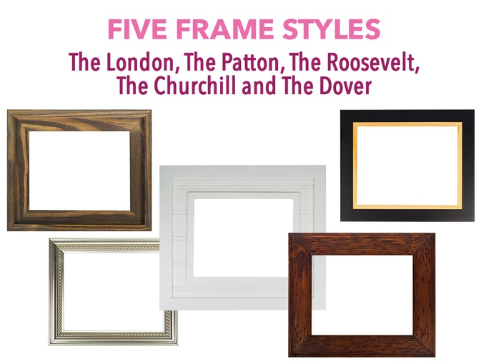 We promise our frames will be stylish and awesome however they're still in final design stages. Frames will be sold separately