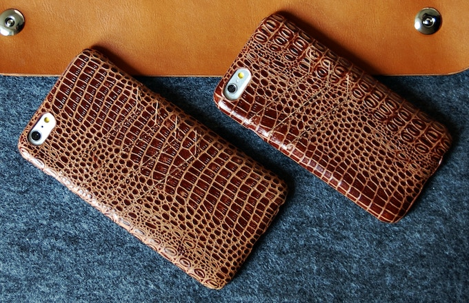 iPhone 6 Plus and iPhone 6 slim leather wallet case Brown color