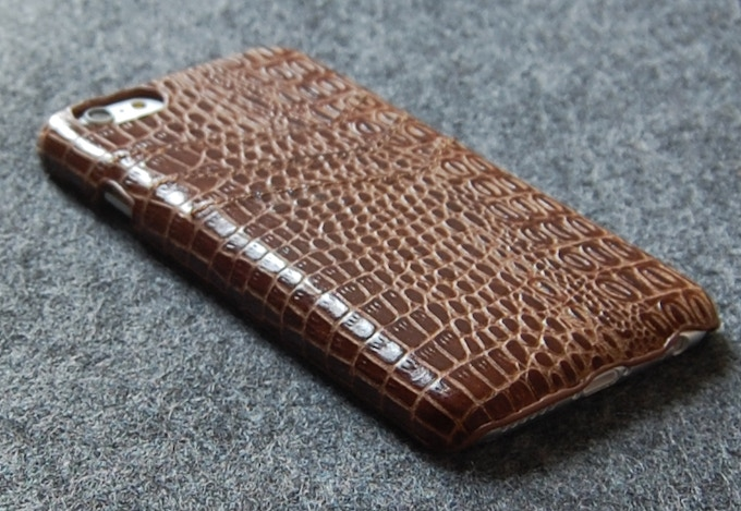 iPhone 6 slim leather wallet case brown color