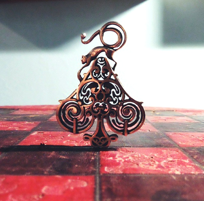 handcrafted sterling silver ace of spades