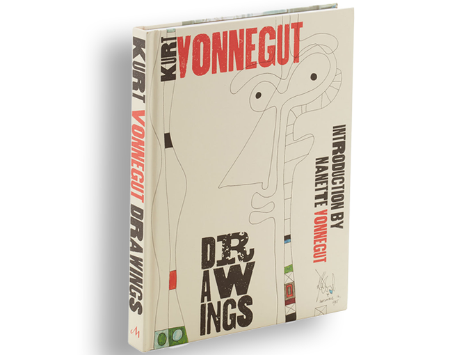 REPLENISHED! $90. KURT VONNEGUT DRAWINGS  - A beautiful coffee table book, 176 pages full of Vonnegut's other talent: extraordinary artist/illustrator/doodler. Foreword by daughter Nanette Vonnegut, who will autograph your copy.