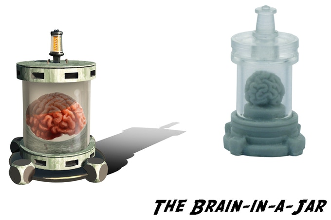 "We upgraded the ""Brain-in-a-Jar""! Now with a REAL Jar! So cool..."