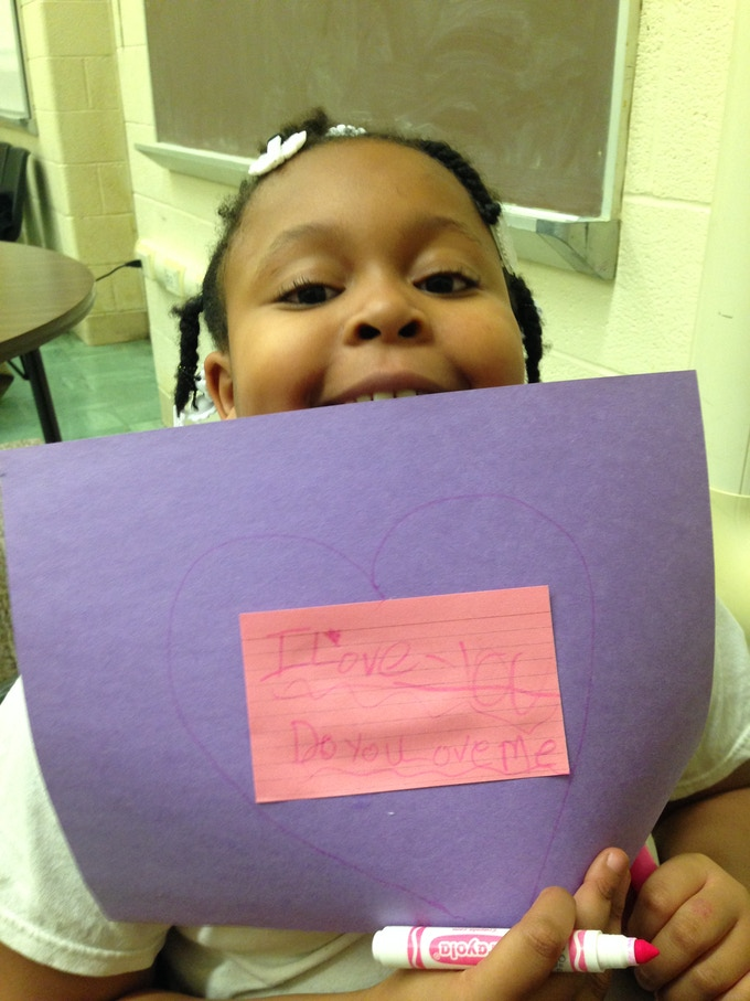 One of Seventh Mile's music students in Brightmoor