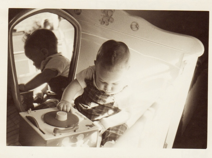 This is me as a very young music lover in the 60s.