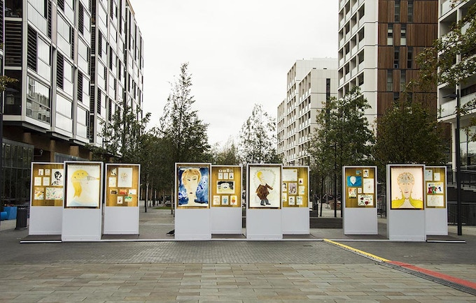 The Expert View, Lightbox installation, Dalston Square (2014) Photograph: Andrew Whittuck
