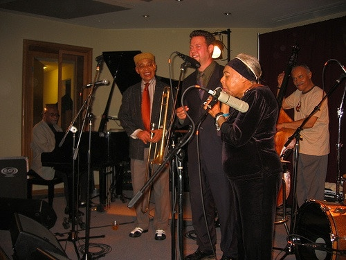Junior Mance, Benny Powell, Earl May, Me, Dawn Hampton playing one of my songs!