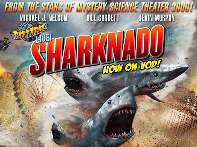 Our live riff of the first SHARKNADO is available to own!