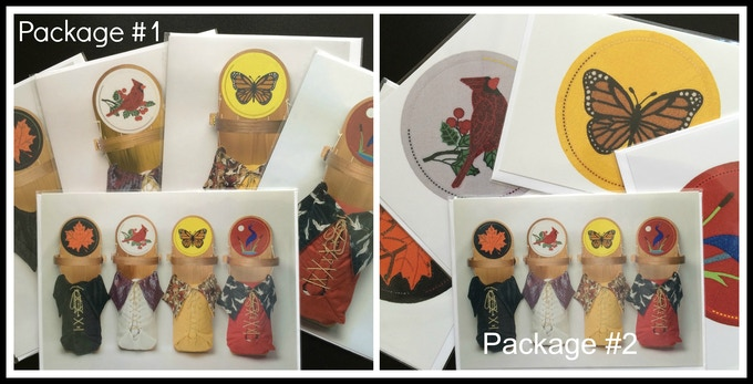 """Each package includes five - 5 x 7"""" greeting cards blank inside each with a white envelope for mailing and gift giving."""