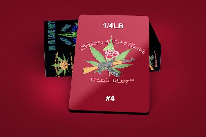 Cherry AK-47 Kush Strain 1/4LB Card & Deck