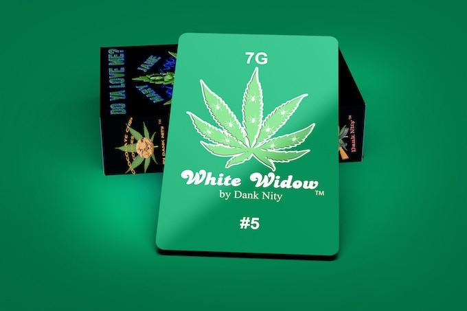 White Widow Strain 7G Card & Deck