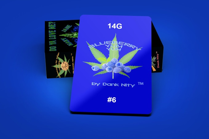 Blueberry Yum Yum Strain 14G Card & Deck