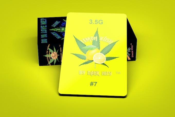 Lemon Kush Strain 3.5G Card & Deck