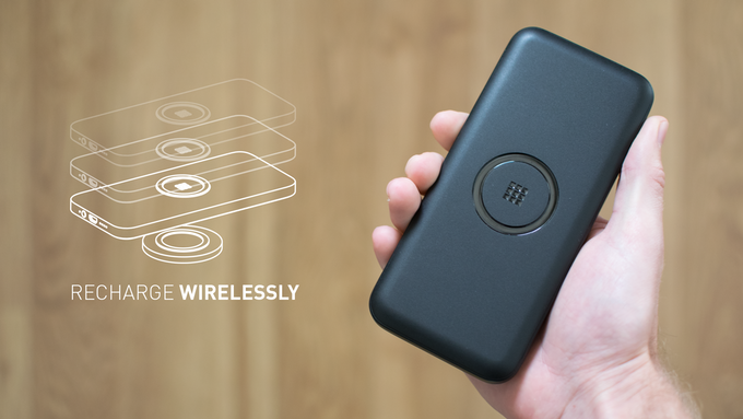 Recharge ON using another wireless charger or the old fashioned way with the micro-usb cable included. If you have multiple ON chargers you can also stack them to recharge together from a single outlet.