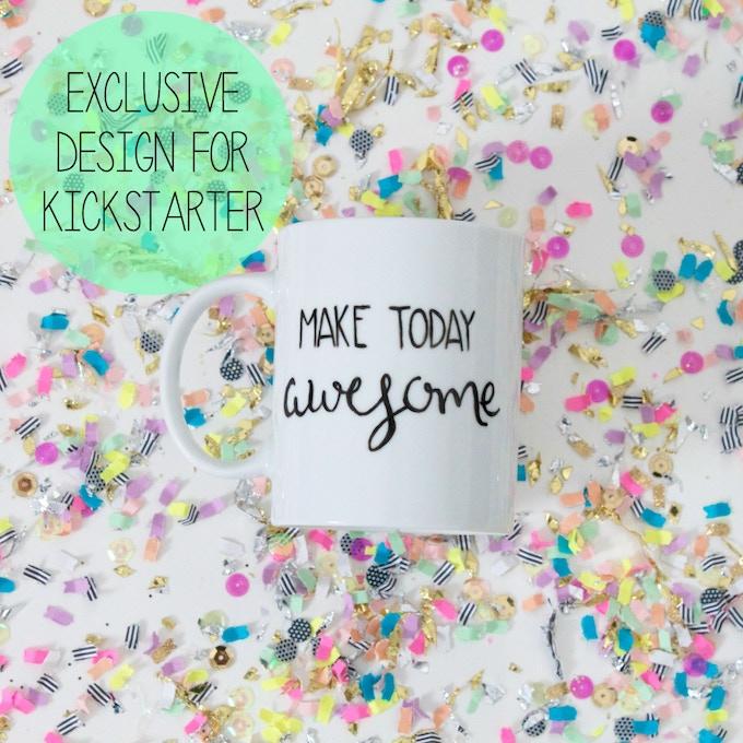 $50 a mug hand painted with exclusive Kickstarter design